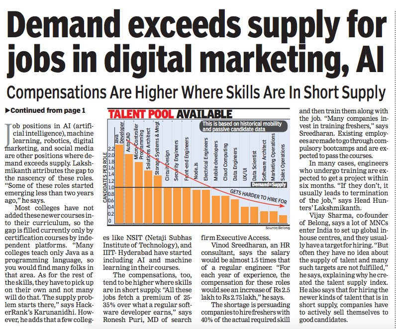 Demand Exceeds Supply in digital Marketing