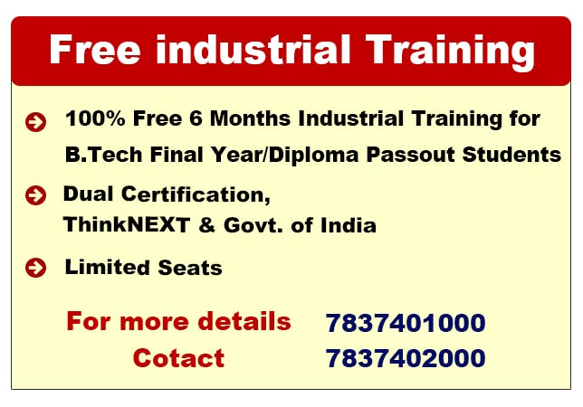 Free Industrial Training in Chandigarh
