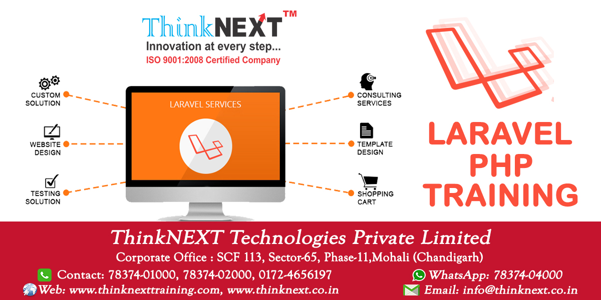 Laravel PHP Framework Training in Chandigarh Mohali - ThinkNEXT