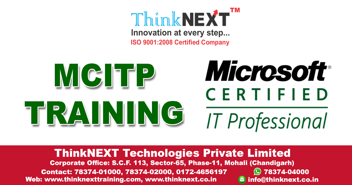 Mcitp Training In Chandigarh Thinknext Technologies